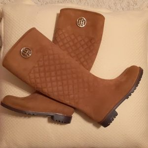 Tommy Hilfiger suede rain boots
